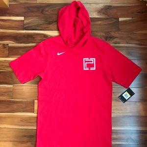Nike Mens Basketball Hooded SHIRT NWT